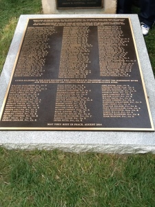 Monument naming the U.S. 56th Colored Troops buried at Jefferson Barracks National Cemetery.
